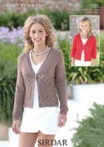 Sirdar Cotton DK Knitting Pattern - 7085 Cardigans Knitting Pattern
